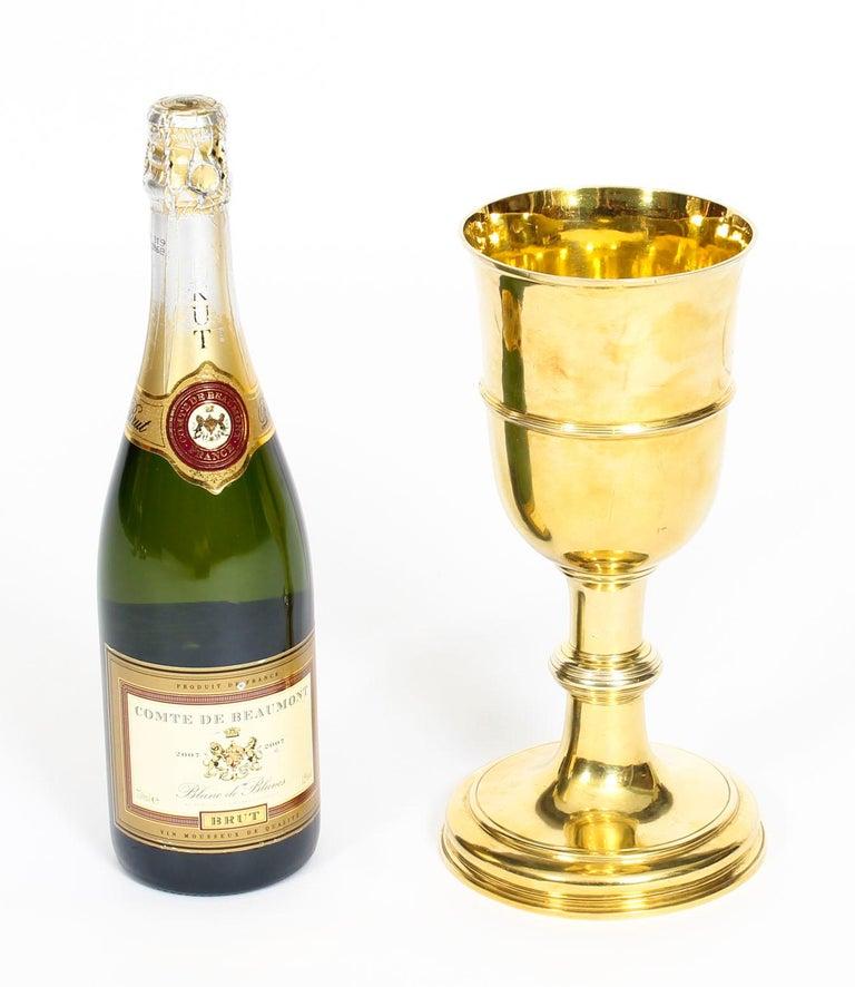 Antique Silver Gilt Chalice Cup by Paul de Lamerie, 1745, 18th Century For Sale 1