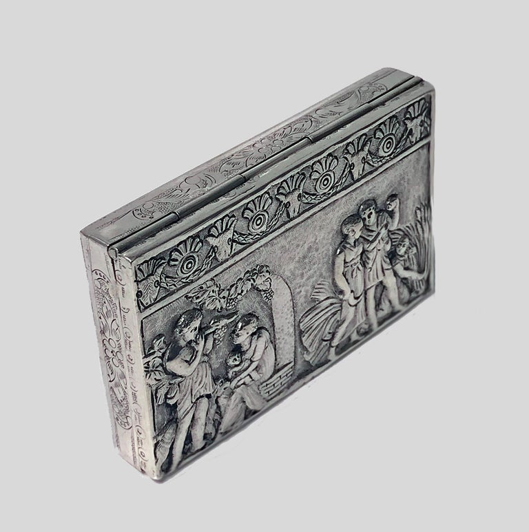Antique Silver Hand Chased Box, Continental, circa 1900 In Good Condition For Sale In Toronto, Ontario