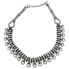 Antique Silver Hand Made Necklace from Tibet