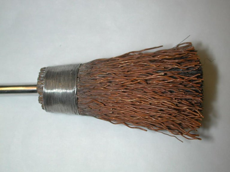 Antique Silver Handled Miniature Besom Broom Pen Wipe, 1884, W Thornhill &  Co