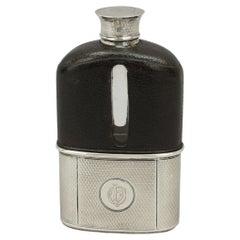 Antique Silver Hip Flask by Asprey, London, 1862