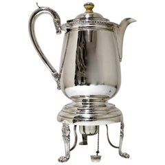 Antique Silver Indian Colonial Biggin on Stand Calcutta 1819-1825 Cropley & Co