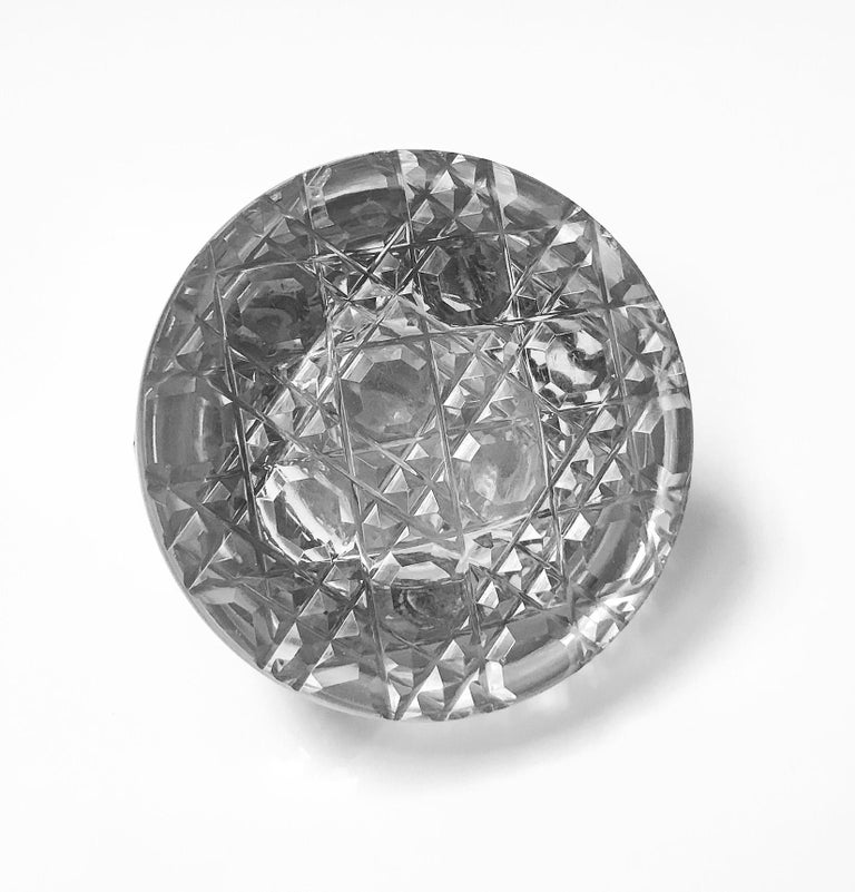 Sterling Silver Antique Silver Inkwell Paperweight, Birmingham, 1900 H. Matthews For Sale
