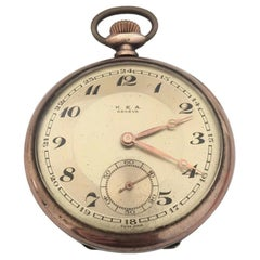 Antique Silver K. E. A. Geneve Pocket Watch