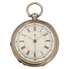 Antique Silver Key-Wind Pocket / Stop Watch