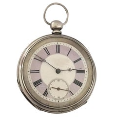 Antique Silver Key-Wind Pocket Watch Signed GT