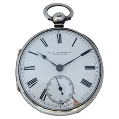 Antique Silver Key-Wind Pocket Watch Signed James Wood Neston