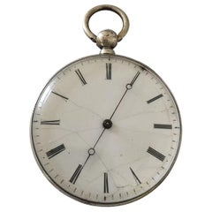 Antique Silver Key-Wind Pocket Watch with Very Fine Hands