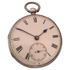 Antique Silver Key Winding Pocket Watch