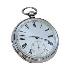 Antique Silver Key-Winding Pocket Watch