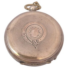 Antique Silver Key-Winding Pocket Watch Signed Acme Lever H. Samuel Manchester