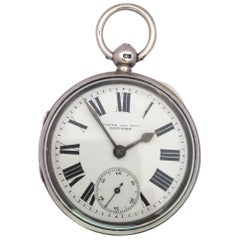Antique Silver Key-Winding Pocket Watch Signed by Dent