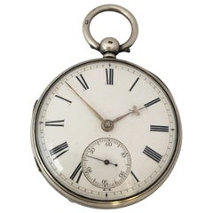Antique Silver Key-Winding Pocket Watch Signed Charles Reeves, Hereford