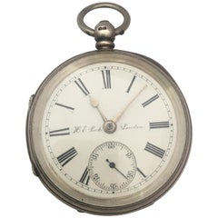 Antique Silver Key Winding Pocket Watch Signed H. E. Peck London