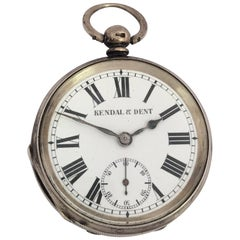 Antique Silver Key Winding Pocket Watch Signed KENDAL & DENT