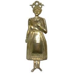 Silver Lady Woman Ex Voto religious Folk Art, Antique European, 1910s