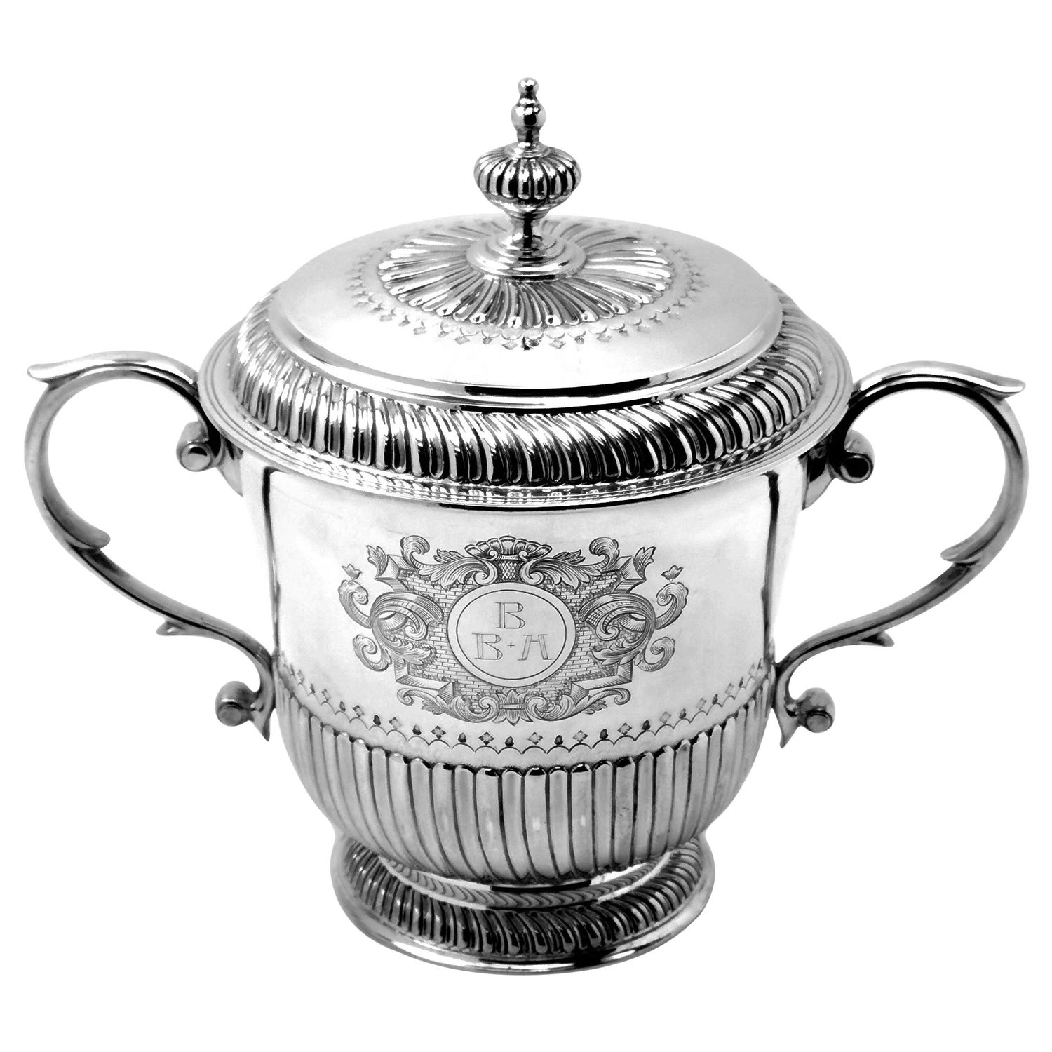 Antique Silver Lidded Porringer Cup & Cover 1911 William III 17th Century Style