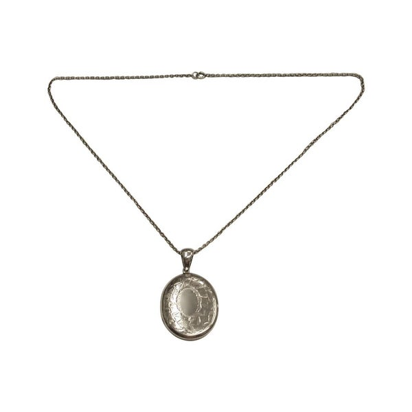 Antique Silver Locket, 1913, Birmingham, Kirwan & Co.