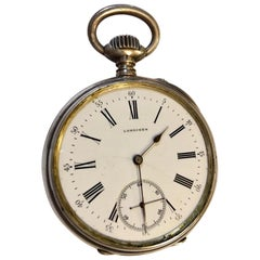 Antique Silver Longines Pocket Watch