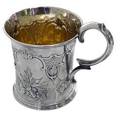 Antique Silver Mug, London 1872 Edward Ker Reid