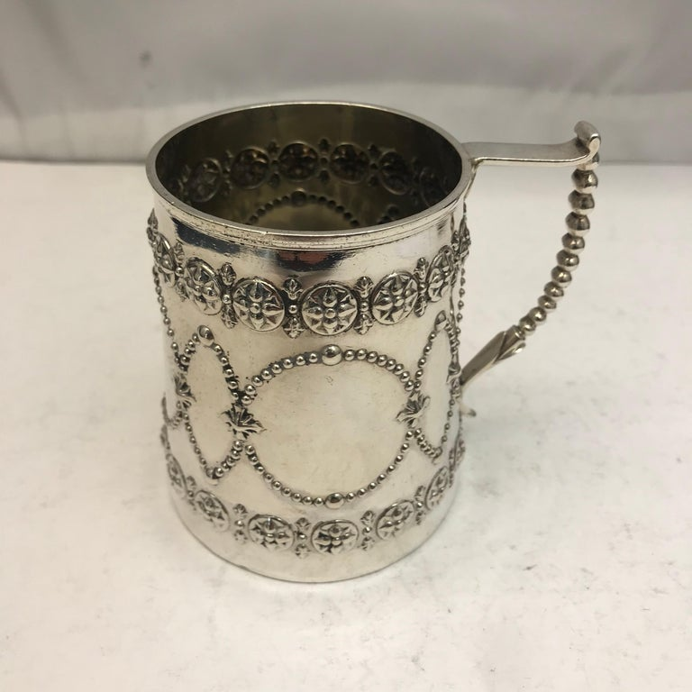 Antique Silver Mug, London, circa 1870 In Good Condition For Sale In London, London