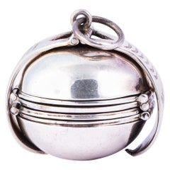 Antique Silver Opening Locket Pendant