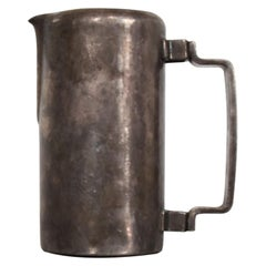 Antique Silver Pitcher Sterling Plated MENESES Bros of Spain  Midcentury 1950s