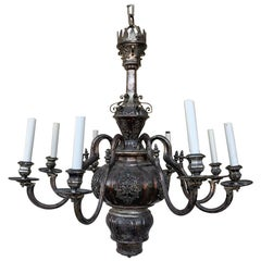 Antique Silver Plated 8 Arm Chandelier