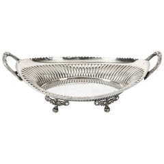 Antique Silver Plated Bread Basket by Walker & Hall, 19th Century