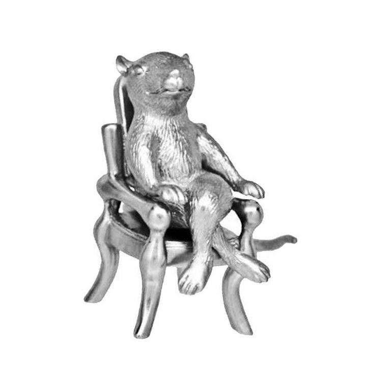 Contemporary Antique Silver Plated Bronze