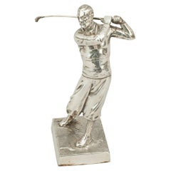 Antique Silver Plated Golf Trophy, Zwick