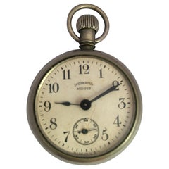 Antique Silver Plated Ingersoll Midget Hand Winding Pocket Watch
