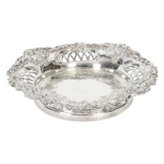 Antique Silver Plated Old Sheffield Wine Coaster, 19th Century