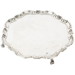 Antique Silver Plated Salver by Maple & Co, 19th Century