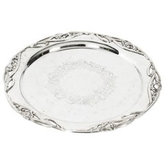 Antique Silver Plated Salver by William Hutton & Son, 19th C