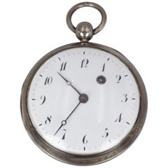 Antique Silver Pocket Watch, First Half of the 19th Century