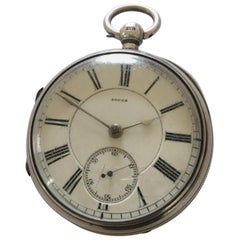 Antique Silver Pocket Watch Signed A. Leven, Manchester 40008