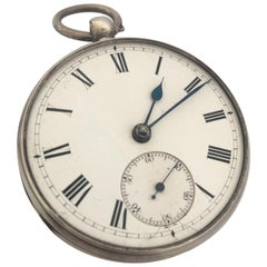 Antique Silver Pocket Watch Signed L Lieger Glasgow