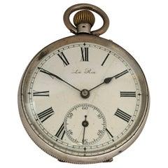 Antique Silver Pocket Watch Signed Le Roi