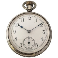 Antique Silver Pocket watch Signed The Waterbury Watch Co.