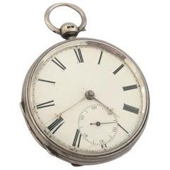 Antique Silver Pocket Watch Signed William Farguhar, London