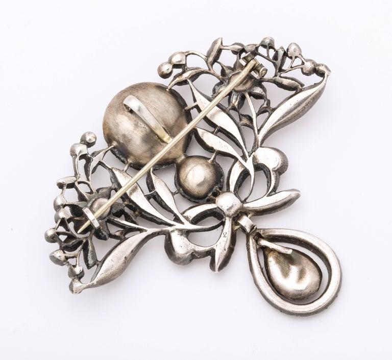 Women's Antique Silver Portuguese Paste Pendant, 18th Century For Sale
