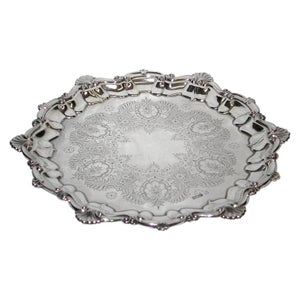 Antique Silver Salver Dated 1897, Sheffield Assay, Boardman Glossop and Co Ltd