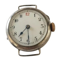Antique Silver Small Trench Watch