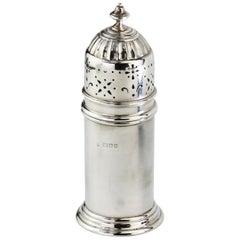 Antique Silver Sugar Caster, Edward Barnard & Sons Ltd, London, 1939