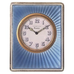 Antique Silver Tiffany & Co. Table / Strut Clock