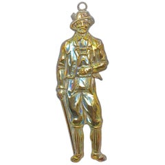 Superb Silver Tyrollean Mountain Man Ex Voto, Antique European 1910s