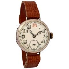 Antique Silver WW1 Period Mechanical Gentlemen's Trench Watch