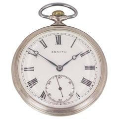 Antique Silver Zenith Pocketwatch, 1930s