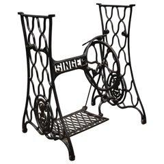Antique Singer Sewing Machine Treadle Base Cast Iron Victorian Table Legs